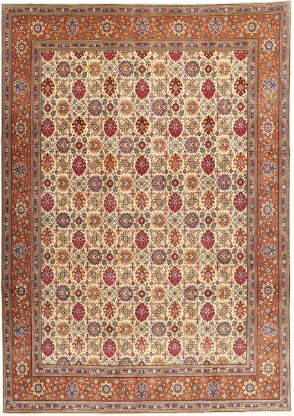 Tabriz Patina Matto 250X345 Itämainen Käsinsolmittu Ruskea/Vaaleanruskea Isot (Villa, Persia/Iran)