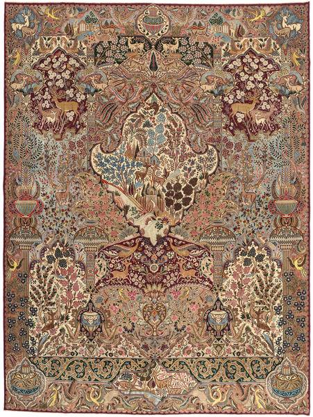 Kashmar Patina Teppich  295X387 Echter Orientalischer Handgeknüpfter Hellbraun/Dunkelrot Großer (Wolle, Persien/Iran)