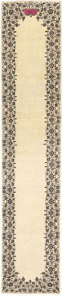 Tabriz Patina Rug 80X425 Authentic  Oriental Handknotted Hallway Runner  Beige/Dark Beige (Wool, Persia/Iran)