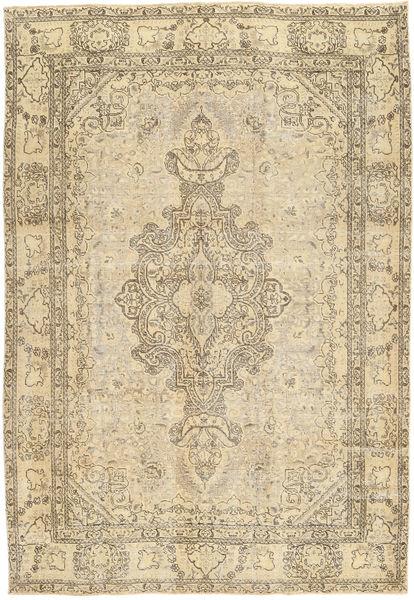 Tabriz Patina Rug 200X290 Authentic  Oriental Handknotted Light Brown/Dark Beige (Wool, Persia/Iran)