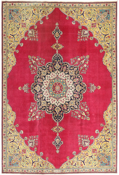Tabriz Patina Rug 220X318 Authentic  Oriental Handknotted Crimson Red/Light Brown (Wool, Persia/Iran)