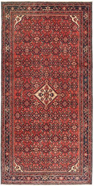 Hosseinabad Patina Tappeto 150X305 Orientale Fatto A Mano Rosso Scuro/Marrone (Lana, Persia/Iran)