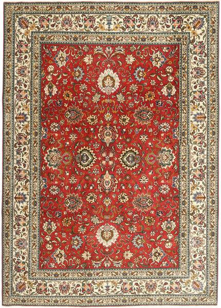 Tabriz Patina Matto 242X336 Itämainen Käsinsolmittu Tummanpunainen/Vaaleanruskea (Villa, Persia/Iran)