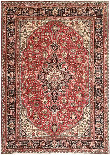 Tabriz Patina Matto 244X346 Itämainen Käsinsolmittu Vaaleanruskea/Ruskea (Villa, Persia/Iran)