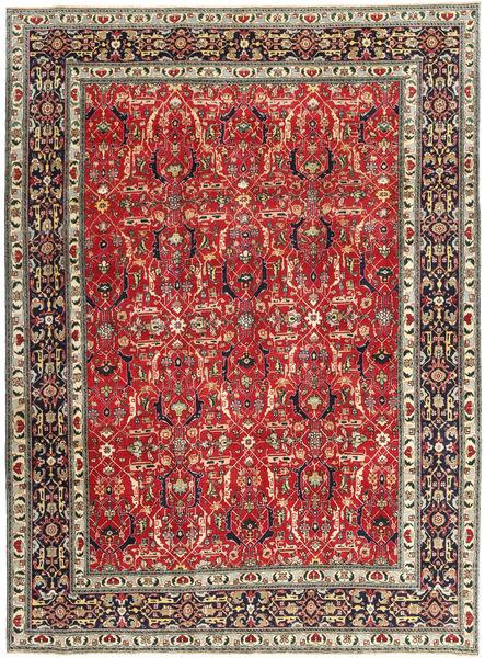 Tabriz Patina Matto 245X328 Itämainen Käsinsolmittu Tummanpunainen/Ruoste (Villa, Persia/Iran)