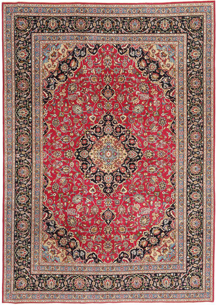 Tabriz Patina Matto 243X340 Itämainen Käsinsolmittu Vaaleanruskea/Ruskea (Villa, Persia/Iran)