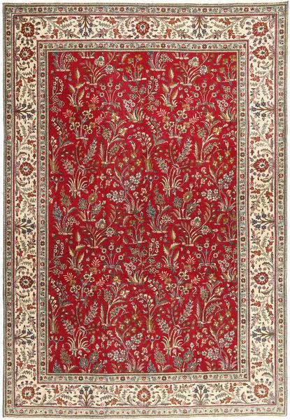 Tabriz Patina Matto 243X343 Itämainen Käsinsolmittu Tummanpunainen/Beige (Villa, Persia/Iran)