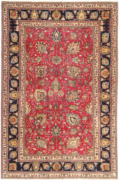 Tabriz Patina Alfombra 195X295 Oriental Hecha A Mano Marrón/Marrón Claro (Lana, Persia/Irán)