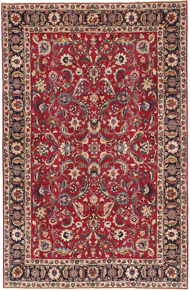 Mashad Patina Rug 197X300 Authentic  Oriental Handknotted Crimson Red/Dark Blue (Wool, Persia/Iran)