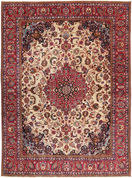 Tabriz Patina Matto 286X380 Itämainen Käsinsolmittu Ruskea/Tummanruskea Isot (Villa, Persia/Iran)
