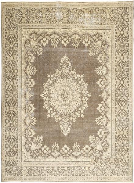 Kerman Patina Matto 285X388 Itämainen Käsinsolmittu Vaaleanharmaa/Beige Isot (Villa, Persia/Iran)