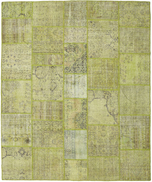 Patchwork Rug 250X304 Authentic  Modern Handknotted Light Green/Olive Green Large (Wool, Turkey)