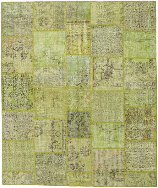 Patchwork Rug 252X301 Authentic  Modern Handknotted Light Green/Light Grey Large (Wool, Turkey)