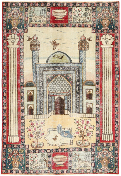 タブリーズ パティナ 絨毯 132X190 オリエンタル 手織り ベージュ/濃い茶色 (ウール, ペルシャ/イラン)
