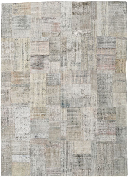 Patchwork Rug 253X352 Authentic  Modern Handknotted Light Grey Large (Wool, Turkey)
