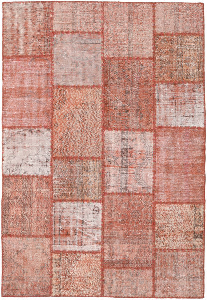 Patchwork Rug 159X232 Authentic  Modern Handknotted Light Pink/Brown (Wool, Turkey)