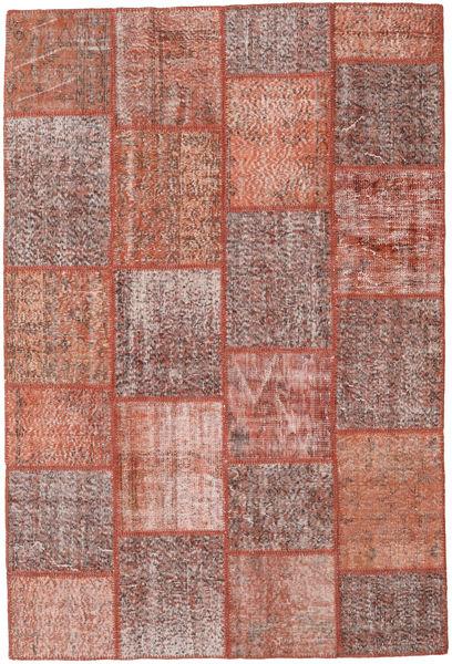 Patchwork Matto 158X235 Moderni Käsinsolmittu Vaaleanruskea/Ruskea (Villa, Turkki)
