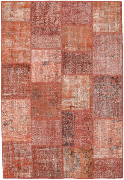 Patchwork Rug 158X230 Authentic  Modern Handknotted Brown/Light Pink (Wool, Turkey)