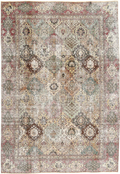 Tabriz Patina Rug 223X322 Authentic  Oriental Handknotted Light Brown/Light Grey (Wool, Persia/Iran)