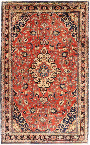 Hamadan Matta 200X315 Äkta Orientalisk Handknuten Ljusbrun/Mörkbrun (Ull, Persien/Iran)