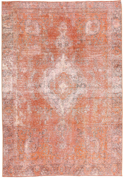 Colored Vintage Rug 188X265 Authentic  Modern Handknotted Light Pink/Light Brown (Wool, Persia/Iran)