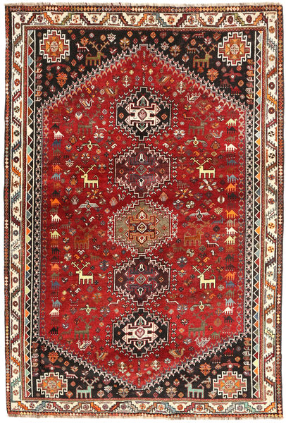 Sziraz Dywan 175X258 Orientalny Tkany Ręcznie Ciemnoczerwony/Ciemnobrązowy (Wełna, Persja/Iran)