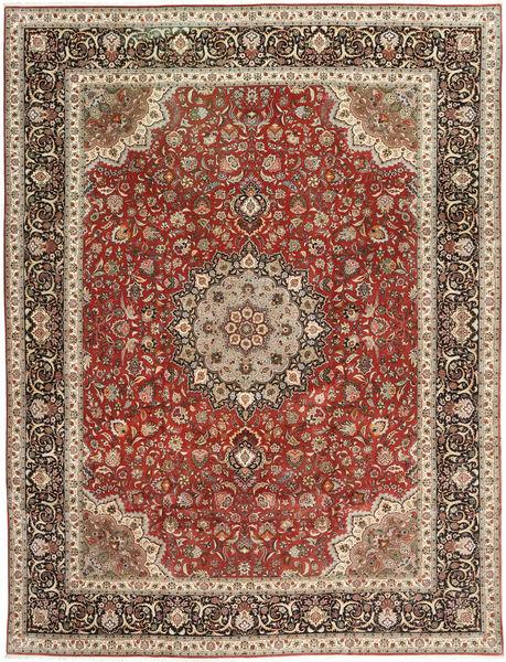 Tabriz Tapis 299X395 D'orient Fait Main Marron Clair/Rouge Foncé Grand (Laine/Soie, Perse/Iran)