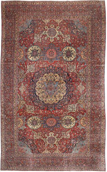 カシャン Antik 絨毯 298X497 オリエンタル 手織り 薄茶色/深紅色の 大きな (ウール, ペルシャ/イラン)