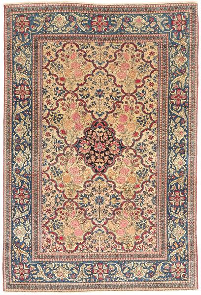 Ispahan Chaîne De Soie Tapis 144X215 D'orient Fait Main Marron Clair/Gris Foncé (Laine/Soie, Perse/Iran)