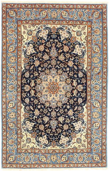 Ispahan Chaîne De Soie Tapis 105X162 D'orient Fait Main Marron Clair/Gris Foncé (Laine/Soie, Perse/Iran)