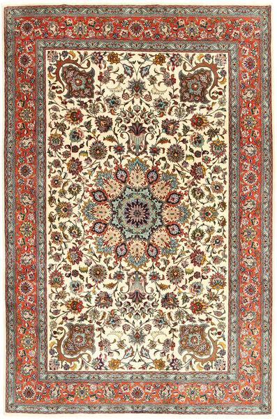 Tabriz 50 Raj Tapis 203X301 D'orient Fait Main Beige/Marron Clair (Laine, Perse/Iran)