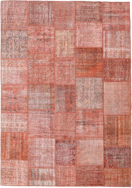 パッチワーク 絨毯 252X360 モダン 手織り ライトピンク/茶 大きな (ウール, トルコ)