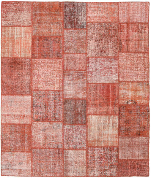 Patchwork Rug 251X298 Authentic  Modern Handknotted Light Pink/Brown Large (Wool, Turkey)