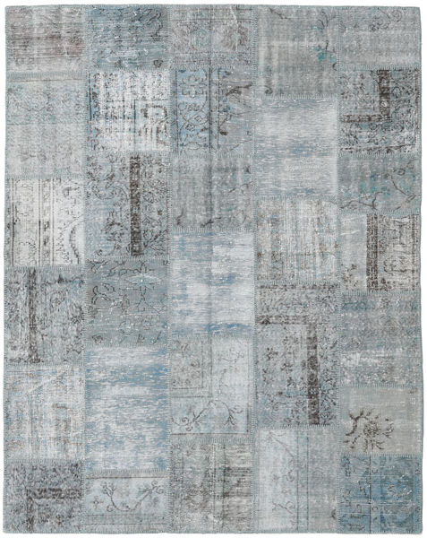 Patchwork Rug 198X249 Authentic  Modern Handknotted Light Grey (Wool, Turkey)