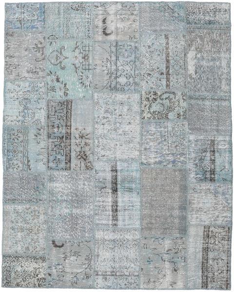 Patchwork Rug 197X247 Authentic  Modern Handknotted Light Grey (Wool, Turkey)
