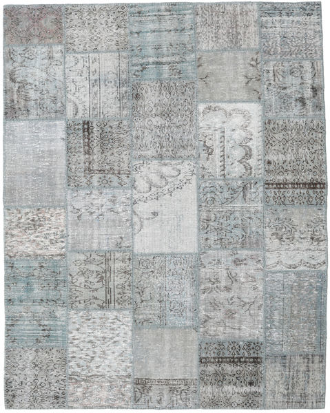 Patchwork Rug 197X249 Authentic  Modern Handknotted Light Grey/Turquoise Blue (Wool, Turkey)
