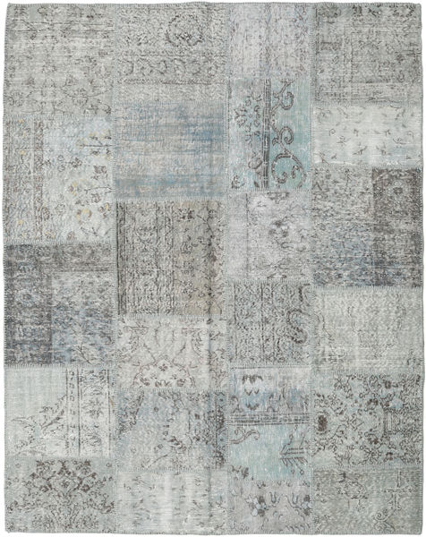 Patchwork Rug 200X252 Authentic  Modern Handknotted Light Grey (Wool, Turkey)