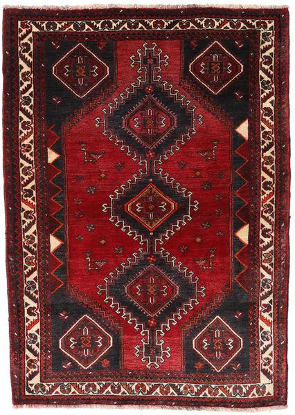 Kaszkaj Dywan 120X172 Orientalny Tkany Ręcznie Ciemnoczerwony/Czarny (Wełna, Persja/Iran)