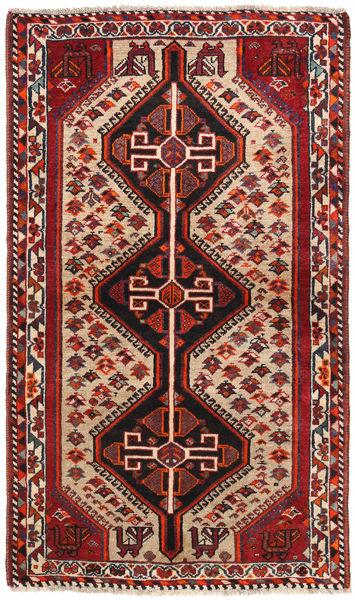 Ghashghai Matto 90X152 Itämainen Käsinsolmittu Tummanpunainen/Tummanruskea (Villa, Persia/Iran)