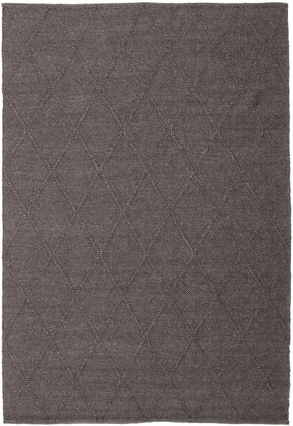 Svea - Dark Brown Rug 200X300 Authentic  Modern Handwoven Dark Blue/Dark Grey (Wool, India)