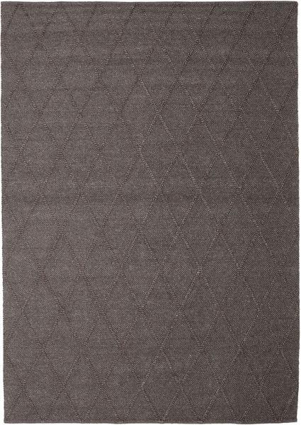 Svea - Ciemnobrązowy Dywan 250X350 Nowoczesny Tkany Ręcznie Ciemnoniebieski/Jasnoszary Duży (Wełna, Indie)