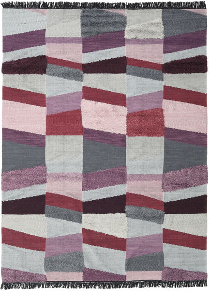 Viola - Purple Rug 250X350 Authentic  Modern Handwoven Light Grey/Pink Large (Wool, India)