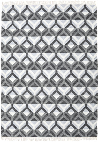 Aino Matta 210X290 Äkta Modern Handvävd Mörkgrå/Ljusgrå (Ull/Bambusilke, Indien)