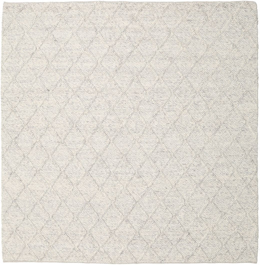 Rut - Ice Grey Melange Rug 250X250 Authentic  Modern Handwoven Square Light Grey/Dark Beige Large (Wool, India)