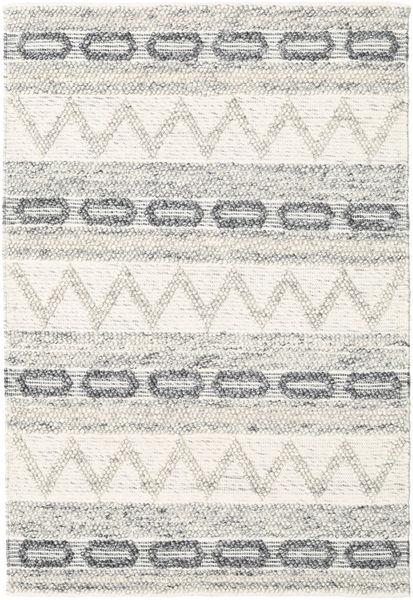 Knut - Grey Mix Rug 140X200 Authentic  Modern Handwoven Beige/Light Grey (Wool, India)