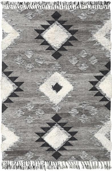 Inka - Black/White Rug 160X230 Authentic  Modern Handwoven Light Grey/Dark Grey (Wool, India)