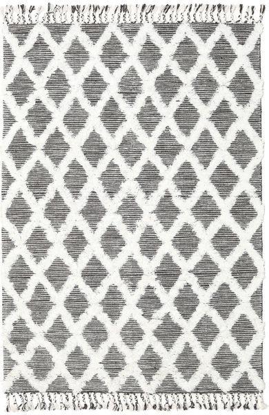 Inez - Donkerbruin/Wit Vloerkleed 160X230 Echt Modern Handgeweven Beige/Lichtgrijs (Wol, India)
