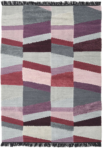 Viola - Purple Rug 160X230 Authentic  Modern Handwoven Light Grey/Pink (Wool, India)
