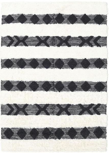 Shaula - Czarny/White Dywan 160X230 Nowoczesny Tkany Ręcznie Ciemnoszary/Beżowy/Biały/Creme (Wełna, Indie)