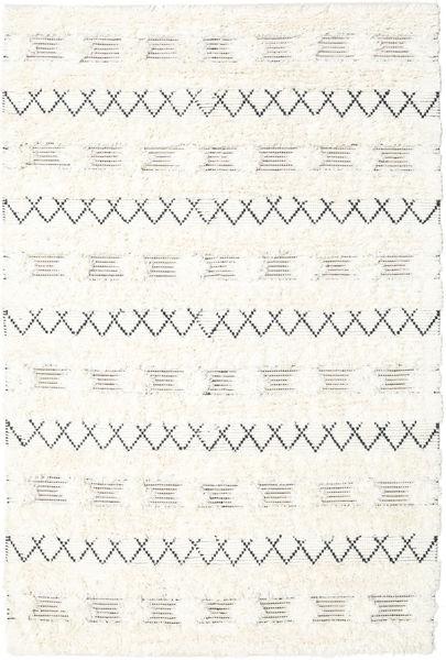 Shedir - White Dywan 160X230 Nowoczesny Tkany Ręcznie Beżowy (Wełna, Indie)